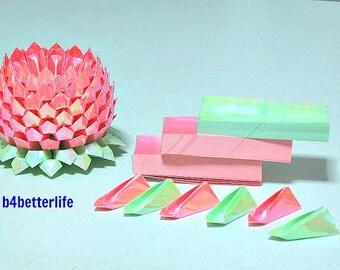 1 Large Pink Color Origami Lotus Plus 264 sheets of DIY Paper Kits. (AV paper series).