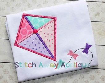 Spring Kite Machine Applique Design