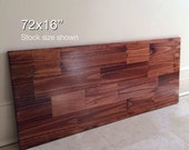 72x16 Long Narrow Wood Tabletop. Stock size shown. Made to Order. Choose Any Color!
