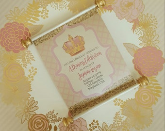 Royal Princess Scroll Invitations