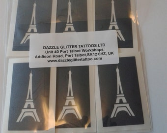 Eiffel Tower stencils for etching on glass (mixed) hobby craft present gift France Paris