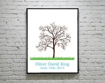 Baby Shower / WeddingThumbprint Tree Guest Book Alternative