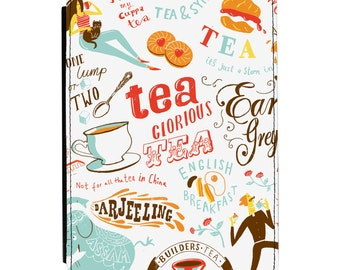 Tea Glorious Tea Design Kindle Paperwhite / Touch 2012 2013 2014 2015 2016 (All Models) PU Leather Flip Case Cover