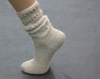 Eco Socks, Women's linen socks, Hand knitted socks, Vegan Socks, Ladies linen socks, Organic linen socks, Gift for women,  not painted