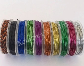 1mm Mixed Color Metallic Cord Non-Stretch 1mm 10 yards per roll x 10rolls