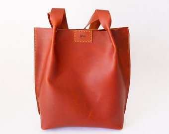 LARGE LEATHER TOTE / leather bag / shoulder bag / carryall bag / handmade leather purse / large leather tote bag