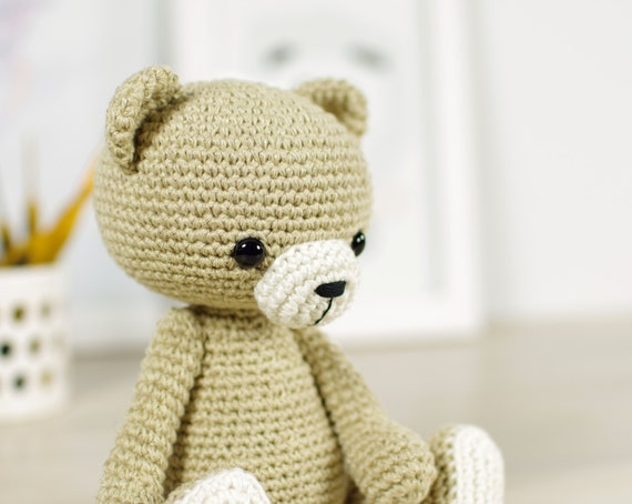 PATTERN: Classic crocheted teddy bear - 4-way jointed ...