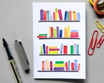 Colourful Bookshelves Notebook