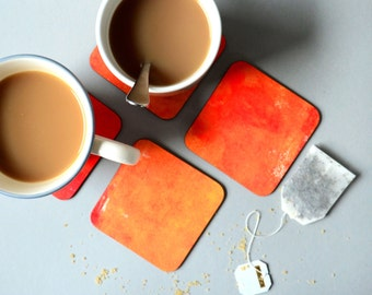 The Colour Collection - Orange Coasters