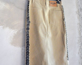 Vintage MOSCHINO skirt with dog tags