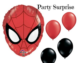 Spiderman Balloons Spiderman Party Balloon Package Spiderman Mask Balloon