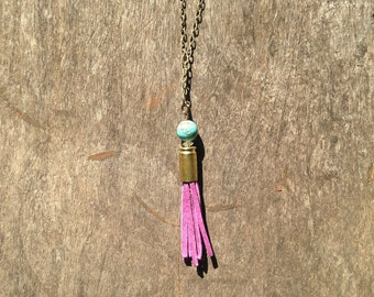 9mm Bullet Tassel Necklace