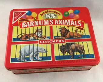 Vintage Barnums Animals 1987 Collectors Tin