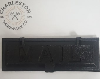 Antique Solid Iron Mail Slot 530814