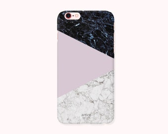 iPhone 8,iPhone 8Plus,iPhone 7Case, iPhone 7 Plus Case,iPhone 6/6S Case,iPhone 6/6S Plus,iPhone 5/5S/SE Case - Marble block Saturated Pink
