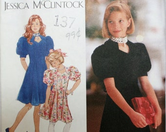 Simplicity 8790 Girl's Dress Sewing Pattern New / Uncut Size 7, 8, 10