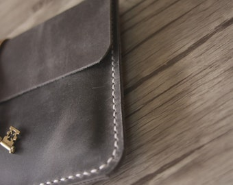 iPad Air Case Leather Covers, Hand Sewn Distressed Gray leather iPad Mini Covers - Premium Leather Stylish and cool