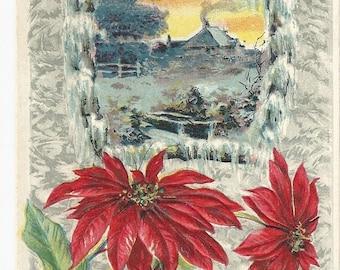 "1913  Beautiful  ""A Merry Christmas"" Postcard"