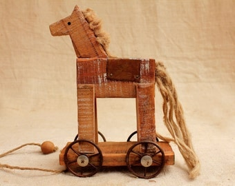 Horse, Kids Gift, Wood Collectible, Horse Collectible, Toy Collectible, Wooden Horse, Vintage Horse, Horse Decor, Vintage Home Decor, Kids