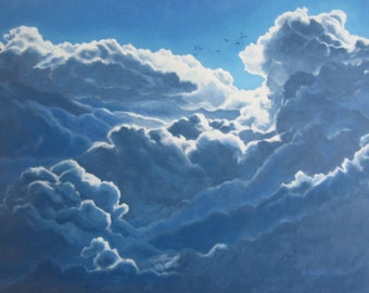 Above the Clouds Giclee print on canvas