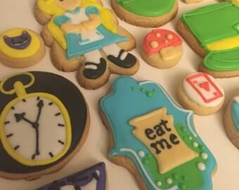Wonderland Inspired Cookies