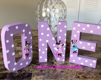 First birthday minnie mouse letters