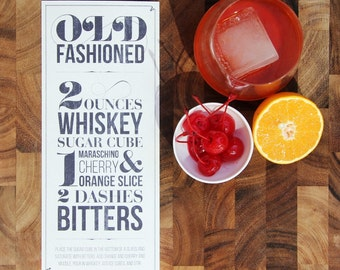 Old Fashioned Recipe Typographic Design for Print