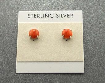 Apple Croal Sterling Silver Stud Post Earrings