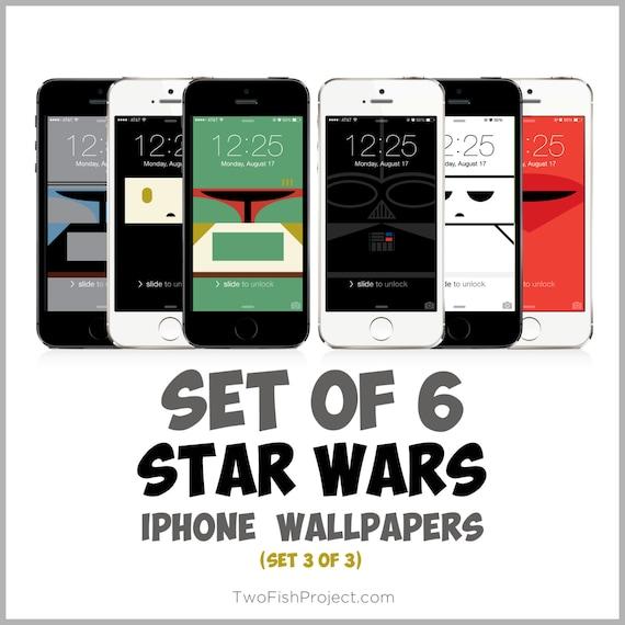 Star Wars Iphone Wallpapers Set 3 Of 3 Darth Vader Boba