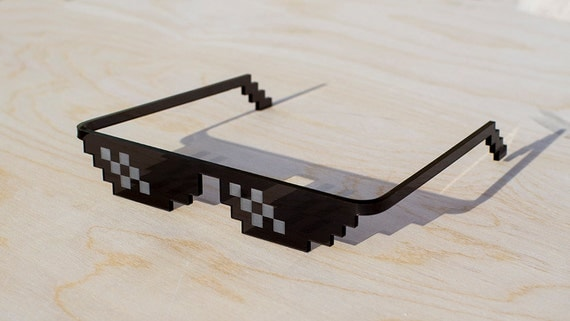 Deal With It (Thug life) Pixel Real life glasses