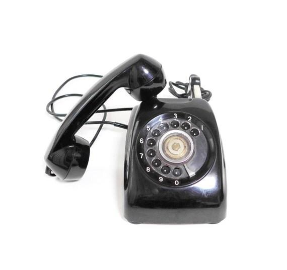 Vintage Black Telephone 73