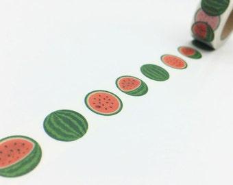 Watermelon Washi Tape -- 15mm x 10M