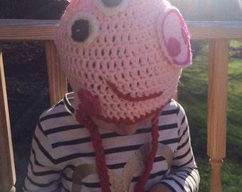 Peppa pig crochet hat pig crochet hat peppa pig hat