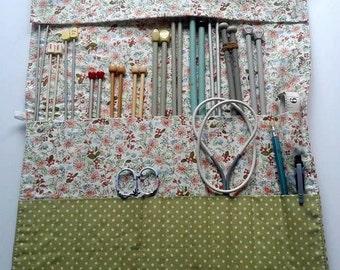 Large knitting needle organizer case UK seller