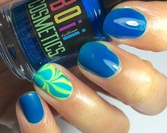 nail polish, blue nail polish , I rock his world