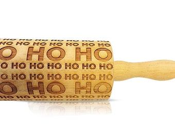 Christmas Rolling Pin - Holiday Rolling Pin - Embossed Rolling Pin - Wooden Rolling Pin - Custom Rolling Pin - Engraved Rolling Pin