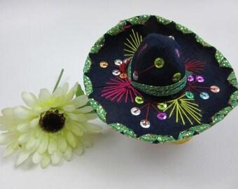 Vintage Miniature Mexican Sombrero Charro Mariachi Hat