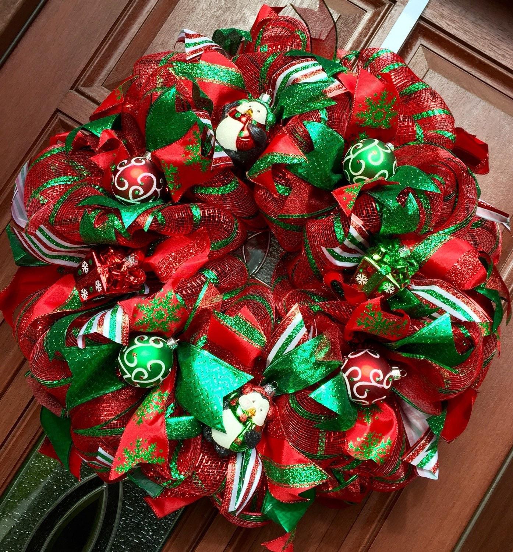 Christmas Wreath Deco Mesh Christmas Wreath Penguin Wreath