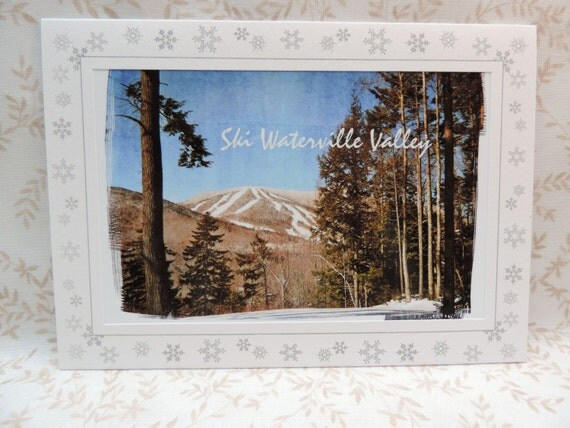 Ski waterville valley greeting card new by illusiongrafx