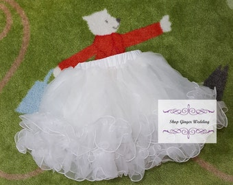 Girl White Petticoat Under Slip Tutu  White Flower Girl Dress