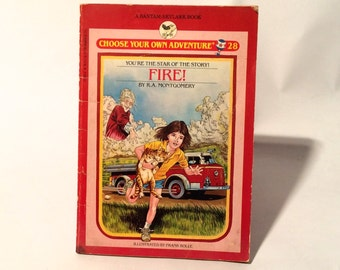 Vintage 1980s Choose Your Own Adventure 1983 'Fire!' R.A. Montgomery