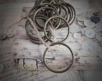 metal circle, ring, brocante, antiques, curtain, rod, circle