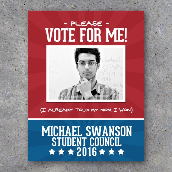Election Campaign Poster 1 Printable 8.5 x 11