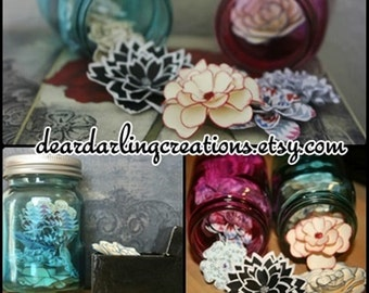 Assortment of Handmade Paper Flowers