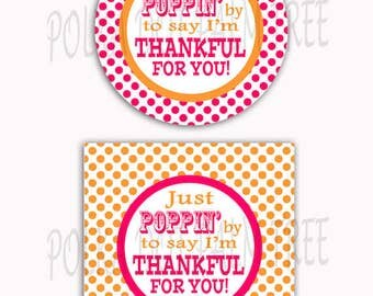 Instant Download Diy Printable Polka Dot Just Poppin By To Say