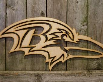 Baltimore Ravens logo wall hanging sign
