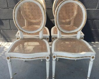 Set of Four French Dining Chairs
