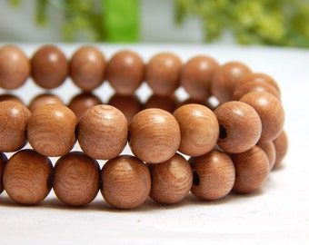 8mm Rosewood Beads, Round Wood Beads, Rosewood Beads, Rose Wood Beads, Natural Beads, Wood Beads, Wooden Beads, Hippie Beads, D-P02