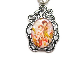 Fairy Necklace Apple Blossom Necklace Apple Blossom Flower Fairy Necklace Fairy Jewelry  Flower Faeries Apple Blossom Jewelry Fairy Gift