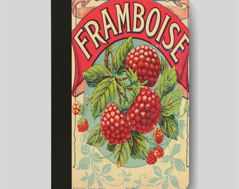 iPad Folio Case, iPad Air Case, iPad Air 2 Case, iPad 1 Case, iPad 2 Case, iPad 3 Case, Framboise Raspberries Vintage French Advert
